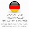 abmahnsichere Opencart und Froschking AGB für Kleinunternehmer