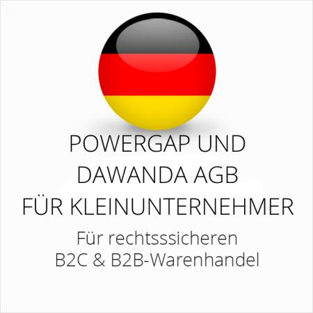 abmahnsichere Powergap und Dawanda AGB B2C und B2B für Kleinunternehmer
