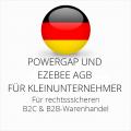 abmahnsichere Powergap und Ezebee AGB B2C und B2B für Kleinunternehmer