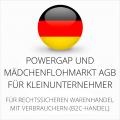 abmahnsichere Powergap und Mädchenflohmarkt AGB für Kleinunternehmer