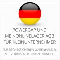 abmahnsichere Powergap und MeinOnlineLager AGB für Kleinunternehmer