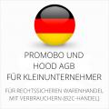 abmahnsichere Promobo und Hood AGB für Kleinunternehmer