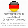 abmahnsichere RoteErdbeere und Amazon AGB für Kleinunternehmer