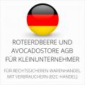 abmahnsichere RoteErdbeere und Avocadostore AGB für Kleinunternehmer