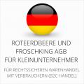abmahnsichere RoteErdbeere und Froschking AGB für Kleinunternehmer