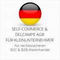 abmahnsichere Self-Commerce und Delcampe AGB B2C und B2B für Kleinunternehmer