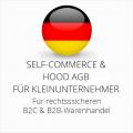 abmahnsichere Self-Commerce und Hood AGB B2C und B2B für Kleinunternehmer