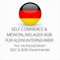 abmahnsichere Self-Commerce und Meinonlinelager AGB B2C und B2B für Kleinunternehmer