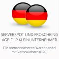 abmahnsichere Serverspot und Froschking AGB für Kleinunternehmer