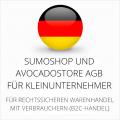 abmahnsichere Sumoshop und Avocadostore AGB für Kleinunternehmer