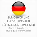 abmahnsichere Sumoshop und Froschking AGB B2C und B2B für Kleinunternehmer