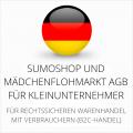 abmahnsichere Sumoshop und Mädchenflohmarkt AGB für Kleinunternehmer