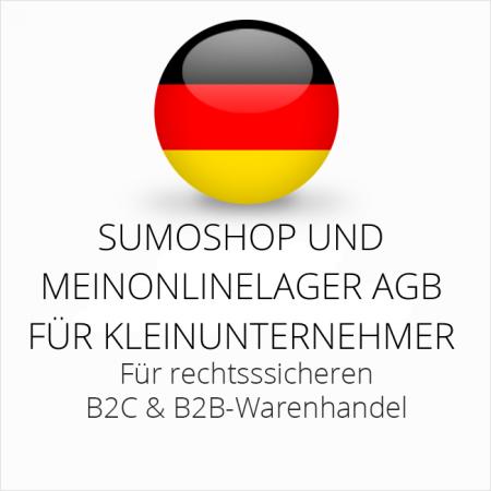 abmahnsichere Sumoshop und Meinonlinelager AGB B2C und B2B für Kleinunternehmer