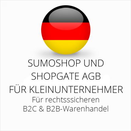 abmahnsichere Sumoshop und Shopgate AGB B2C und B2B für Kleinunternehmer