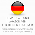 abmahnsichere Tomatocart und Amazon AGB für Kleinunternehmer