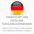 abmahnsichere Tomatocart und Hood AGB für Kleinunternehmer