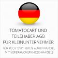 abmahnsichere Tomatocart und Teilehaber AGB für Kleinunternehmer