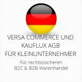 abmahnsichere Versa Commerce und Kauflux AGB B2C und B2B für Kleinunternehmer