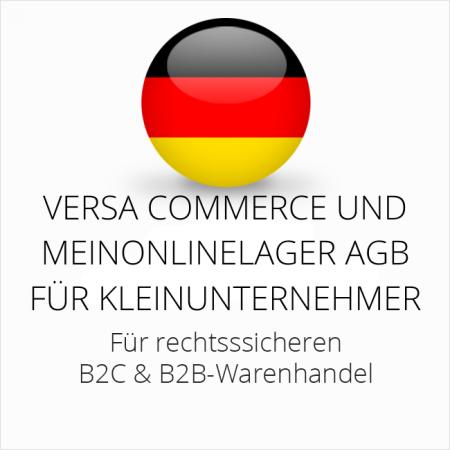 abmahnsichere Versa Commerce und Meinonlinelager AGB B2C und B2B für Kleinunternehmer