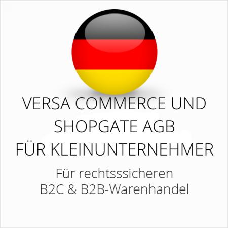 abmahnsichere Versa Commerce und Shopgate AGB B2C und B2B für Kleinunternehmer