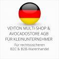 abmahnsichere Veyton Multi-Shop und Avocadostore AGB B2C und B2B für Kleinunternehmer