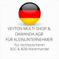 abmahnsichere Veyton Multi-Shop und Dawanda AGB B2C und B2B für Kleinunternehmer