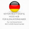 abmahnsichere Veyton Multi-Shop und Hood AGB B2C und B2B für Kleinunternehmer