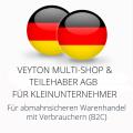 abmahnsichere Veyton Multi-Shop und Teilehaber AGB für Kleinunternehmer
