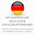 abmahnsichere WP-Shopified und Kauflux AGB für Kleinunternehmer
