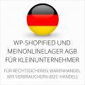 abmahnsichere WP-Shopified und MeinOnlineLager AGB für Kleinunternehmer