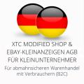 abmahnsichere XTC Modified Shop und Ebay-Kleinanzeigen AGB für Kleinunternehmer