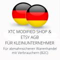 abmahnsichere XTC Modified Shop und Etsy AGB für Kleinunternehmer