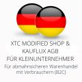 abmahnsichere XTC Modified Shop und Kauflux AGB für Kleinunternehmer
