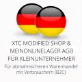 abmahnsichere XTC Modified Shop und Meinonlinelager AGB für Kleinunternehmer