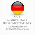 abmahnsichere XTC und Allyouneed AGB B2C und B2B für Kleinunternehmer