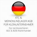 abmahnsichere XTC und Meinonlinelager AGB B2C und B2B für Kleinunternehmer