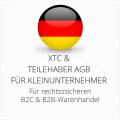 abmahnsichere XTC und Teilehaber AGB B2C und B2B für Kleinunternehmer