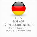 abmahnsichere XTC und ZVAB AGB B2C und B2B für Kleinunternehmer