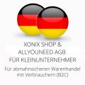 abmahnsichere Xonix Shop und Allyouneed AGB für Kleinunternehmer