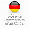 abmahnsichere Xonix Shop und Dawanda AGB B2C und B2B für Kleinunternehmer