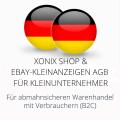abmahnsichere Xonix Shop und Ebay-Kleinanzeigen AGB für Kleinunternehmer