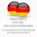 abmahnsichere Xonix Shop und Etsy AGB für Kleinunternehmer