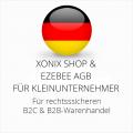 abmahnsichere Xonix Shop und Ezebee AGB B2C und B2B für Kleinunternehmer