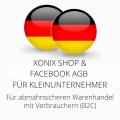abmahnsichere Xonix Shop und Facebook AGB für Kleinunternehmer