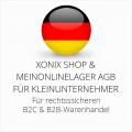 abmahnsichere Xonix Shop und Meinonlinelager AGB B2C und B2B für Kleinunternehmer