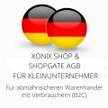 abmahnsichere Xonix Shop und Shopgate AGB für Kleinunternehmer