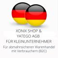 abmahnsichere Xonix Shop und Yatego AGB für Kleinunternehmer