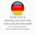 abmahnsichere Xoom Shop und Meinonlinelager AGB B2C und B2B für Kleinunternehmer