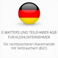 abmahnsichere e-matters und Teilehaber AGB für Kleinunternehmer