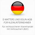 abmahnsichere e-matters und eGun AGB für Kleinunternehmer